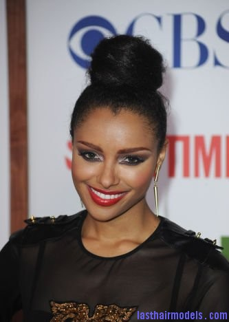 19a28effce0ea11a Kat Graham red lips.xxxlarge 0 Kat Grahams afro hair top knot in style.