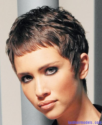 2007 brunette cropped The elfin crop look: Short hair with an edge!