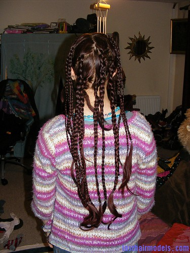 4478399187 2b91384095 Multiple hair plaits and braids hairstyle.