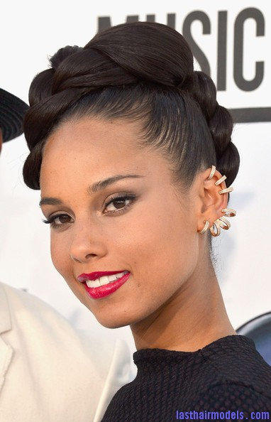 Alicia Keys Updo Hairstyles Wassup new Adorn your plait
