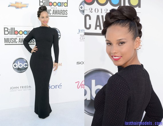 Alicia+Keys+2012+Billboard+Music+Awards 0 Alicia keys thick plaited updo.