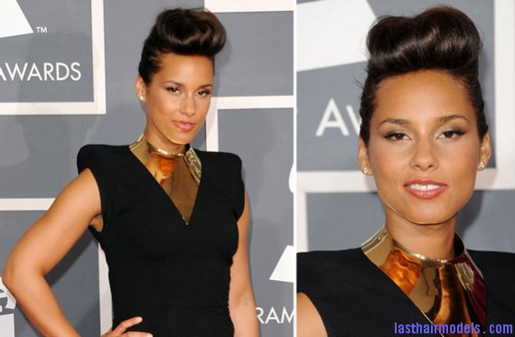 Beautiful Alicia Keys Hairstyle for Wedding Alicia Keys retro banana updo: Retro is fun!