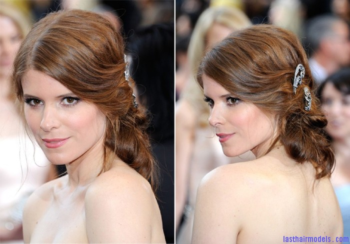 Bridal hairstyle Inspired Kate Mara1 Kate Maras messy low do with crystals: the messy look is super in!!