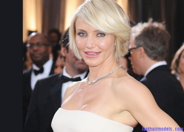 Cameron Diaz Oscars 2012 Cameron Diazs  signature short bob: Short is in!!
