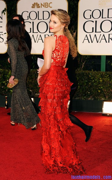Dianna+Agron+69th+Annual+Golden+Globe+Awards+ cgnjiPXRiyl Diana Agron's elegantly styled updo with a ponytail: Sheer redness on red carpet!!