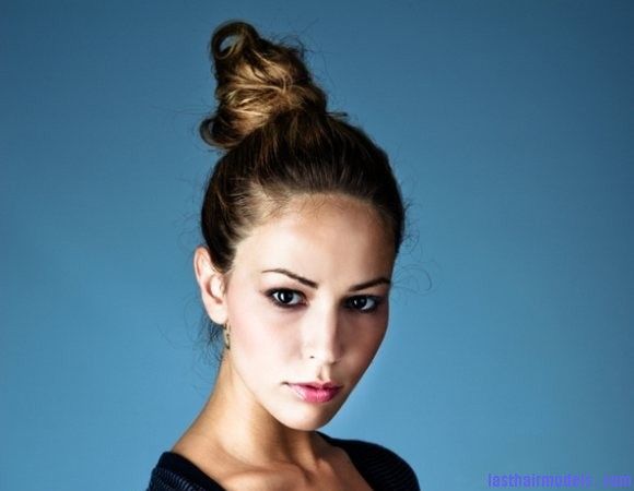 How to look Taller hairstyle top bun Tall buns.