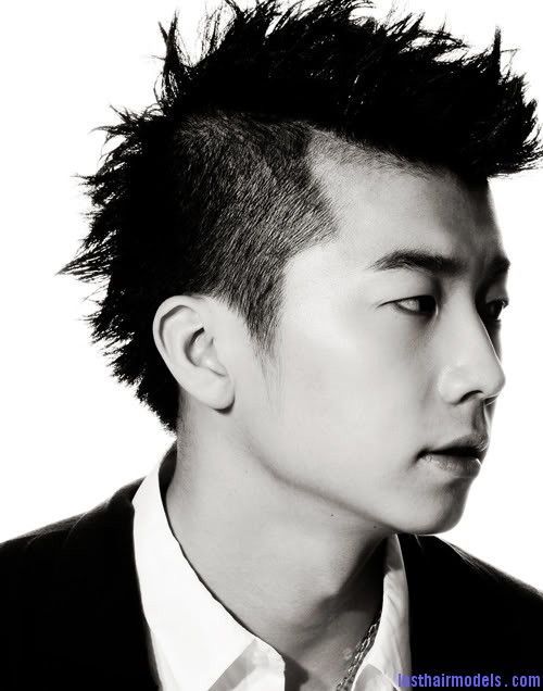 Jang Woo Young mohawk hair Modern Chinese hairstyles for men.