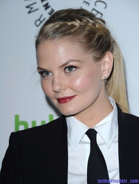 Jennifer+Morrison+Once+Upon+Time+PaleyFest+8NyecGQ1hSAl Jennifer Morrison's braided ponytail: androgynous look with a dash of feminity!!
