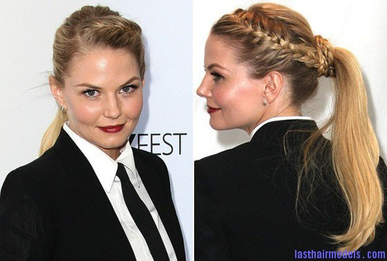Jennifer Morrison Once Upon a Time Hair Jennifer Morrison's braided ponytail: androgynous look with a dash of feminity!!