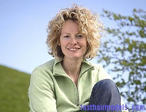 Kate Humble Cherub Curls Natural Cherub curls.