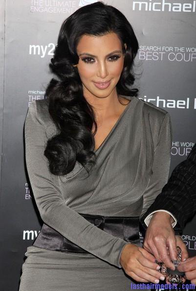 Miraculous Kim39S Thick Retro Bottle Curls Last Hair Models Hair Styles Short Hairstyles Gunalazisus