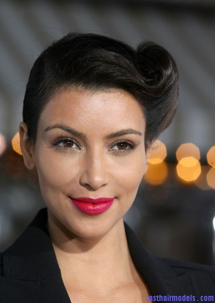 Superb Kim Kardashian Updos French Twist Pazi Uon5P2L Last Hair Models Short Hairstyles For Black Women Fulllsitofus