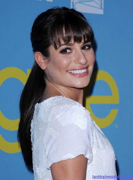 Marvelous Lea Michele Long Hairstyles Ponytail Dkbqw2Na1X7L Last Hair Hairstyle Inspiration Daily Dogsangcom