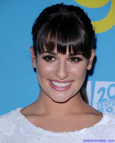 Admirable Lea Michele Long Hairstyles Ponytail Omd6A3Zsq8Jl Last Hair Short Hairstyles Gunalazisus