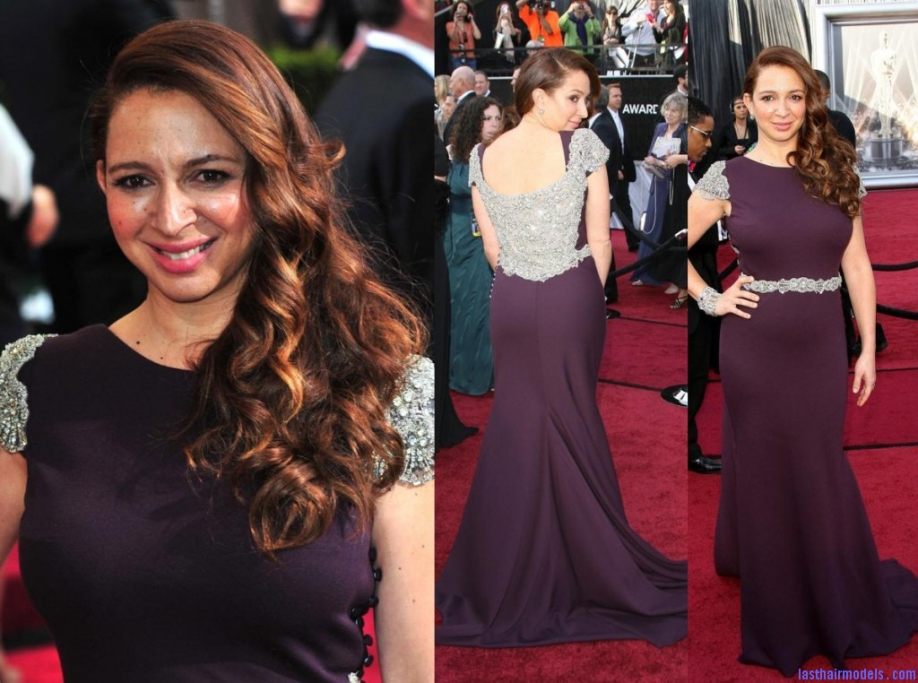 Maya Rudolph dress 84th Annual Academy Awards 2012 Oscars 1024x762 Maya Rudolph's side curls: Making a statement of their own.