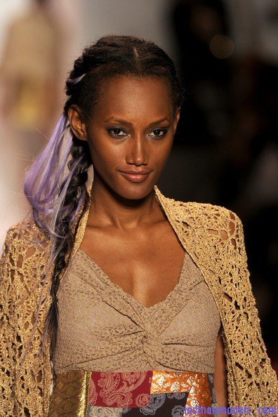 Odd+Molly+Runway+Spring+2011+MBFW+isaBVZWpePzl Messy braids with funky hair extensions.