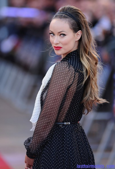 Olivia+Wilde+Long+Hairstyles+Teased+aj499hymYqCl Olivia Wilde's wavy hairstyle with headband.