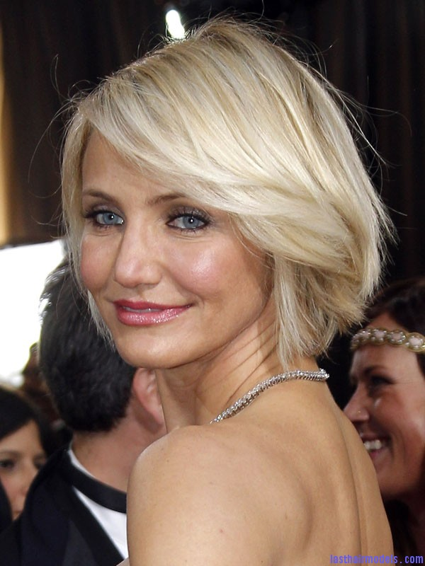 Oscars 2012 Cameron Diaz Cameron Diazs  signature short bob: Short is in!!