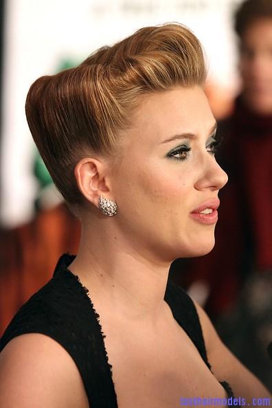 Scarlett Johansson S Retro Curly Bowl Updo Unique Retro