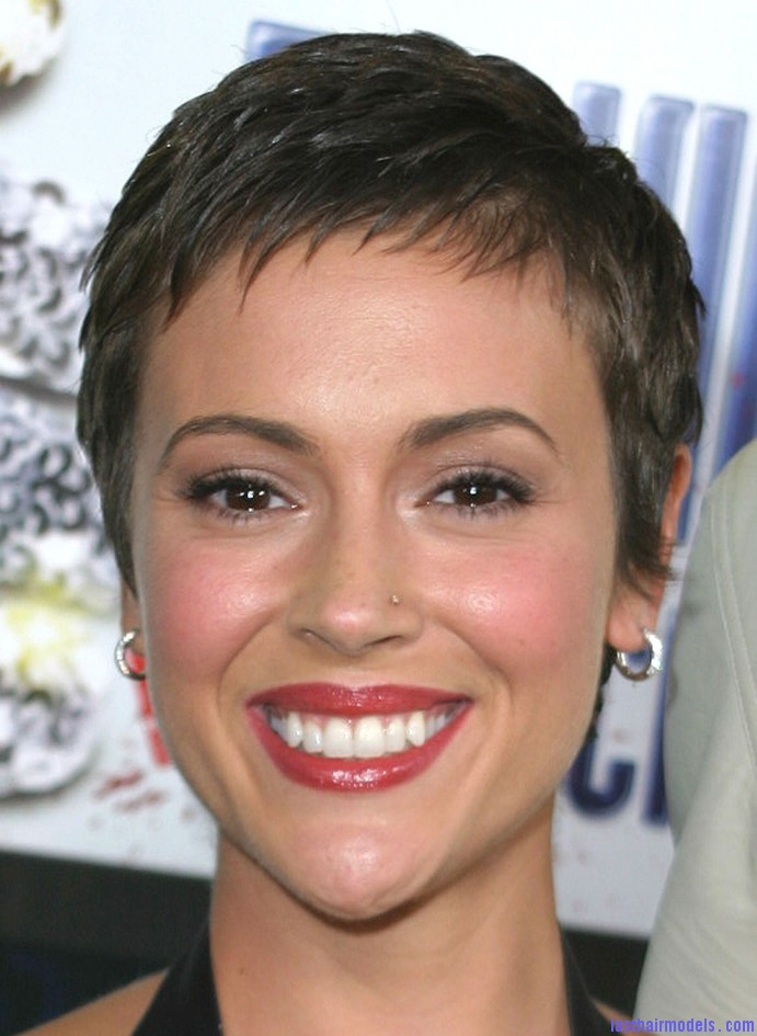 Short Dark Haircut 691x1024 The elfin crop look: Short hair with an edge!