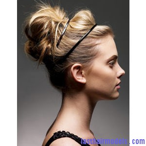 Spring 2011 Hairstyle Messy Bun With HeadBand Spring 2011 Hairstyle Messy Bun With HeadBand