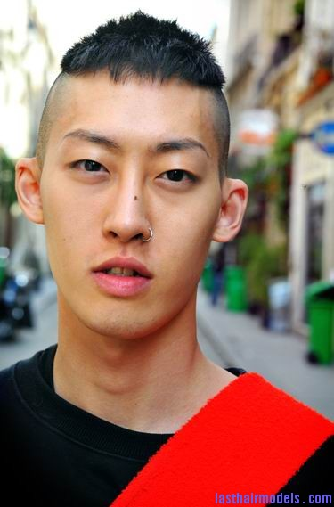 Stylish Korean mohawk hairstyle for men Cossack, traditional Ukrainian hairstyle.