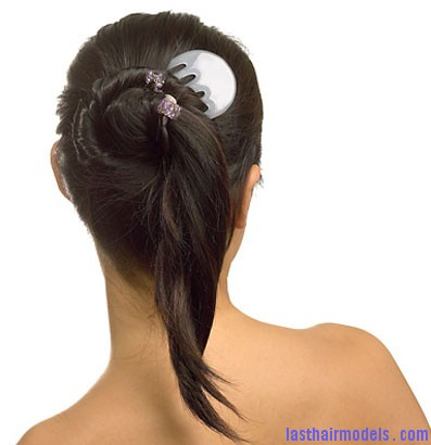 asian hairstyles 25 Half bun half ponytail.