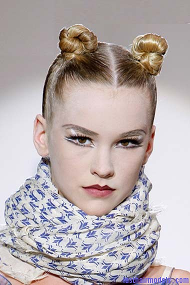 bun hairstyles 2012 10 Double buns: Chinese 'ox horns' hairstyle.