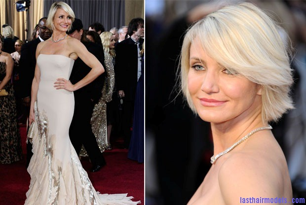 cameron diaz in gucci premiere 2012 oscars1 Cameron Diazs  signature short bob: Short is in!!