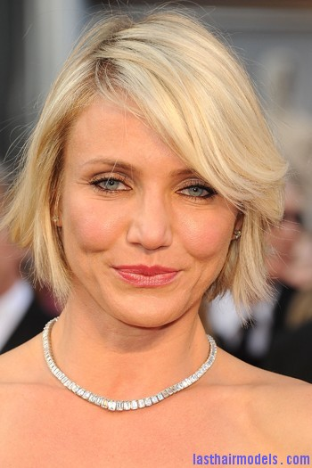 cameron diaz oscars 2012 hair 0a06f Cameron Diazs  signature short bob: Short is in!!