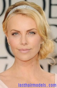 charlize theron1 197x300 Side Swept Bun