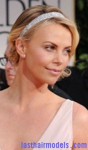 charlize theron3 176x300 Side Swept Bun