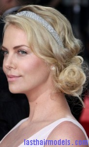 charlize theron4 183x300 Side Swept Bun