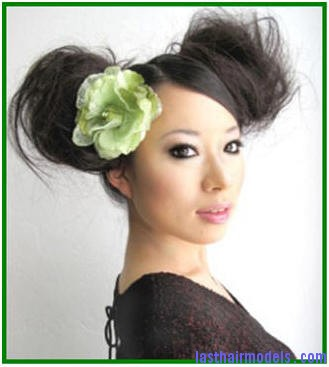 chinese double sided high bun hairstyles Double buns: Chinese 'ox horns' hairstyle.