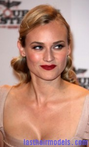 diane kruger 182x300 Pinned Curls Hairstyle