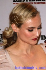 diane kruger2 198x300 Pinned Curls Hairstyle
