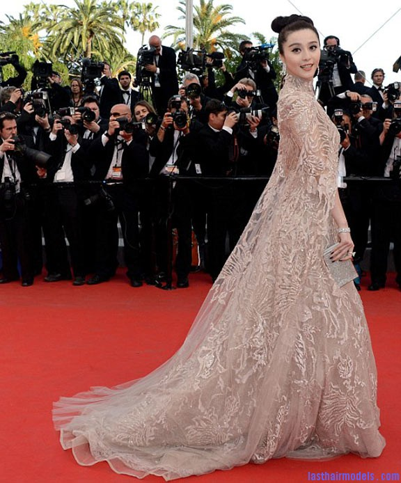 e45ad Fan Bingbing Cannes 2012 Fan Bing Bing's bow shaped updo: Combining moderancy with tradition.