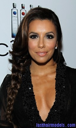 eva longoria braid Eva Longoria's side plait: the sleek feminity!