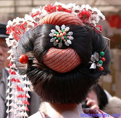 geisha hairstyle Traditional Chinese hairstyles.
