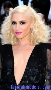 gwen stefani 171x300 Pinned Curls Hairstyle