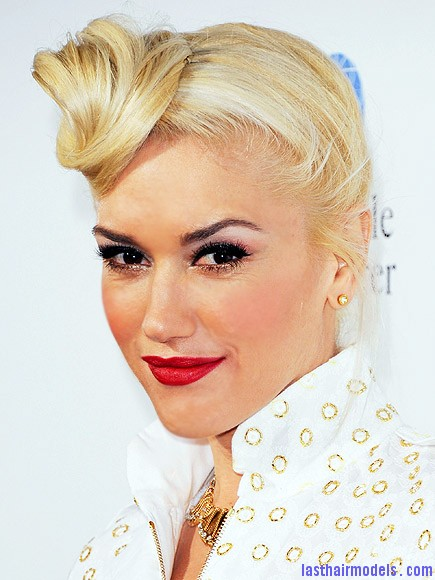 gwen stefani 435 Gwen Stephani's lopsided side retro roll.