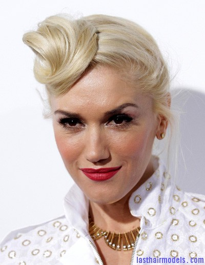 gwen stefani1 Gwen Stephani's lopsided side retro roll.