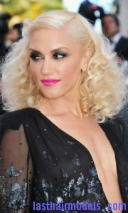 gwen stefani4 180x300 Pinned Curls Hairstyle