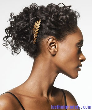 hair curly comb 300 Tendril twist bun.