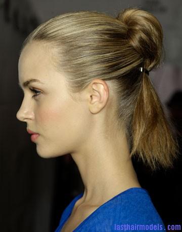 hbz Ponytails A Plenty mbmj hair trends ss12 de Half bun half ponytail.