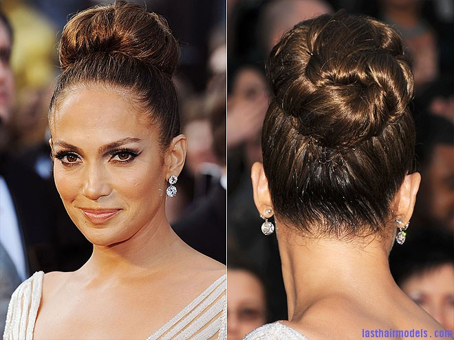 jennifer lopez 660 Jennifer Lopezs tight bun: Charisma in tight high sweep!