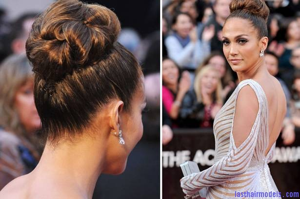 jlo bun Jennifer Lopezs tight bun: Charisma in tight high sweep!