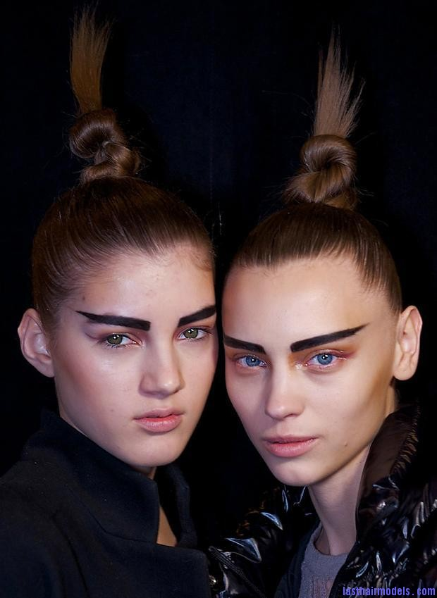 kevork kiledjian beauty autumn fall winter 2012 nyfw2 Top of the head knot.