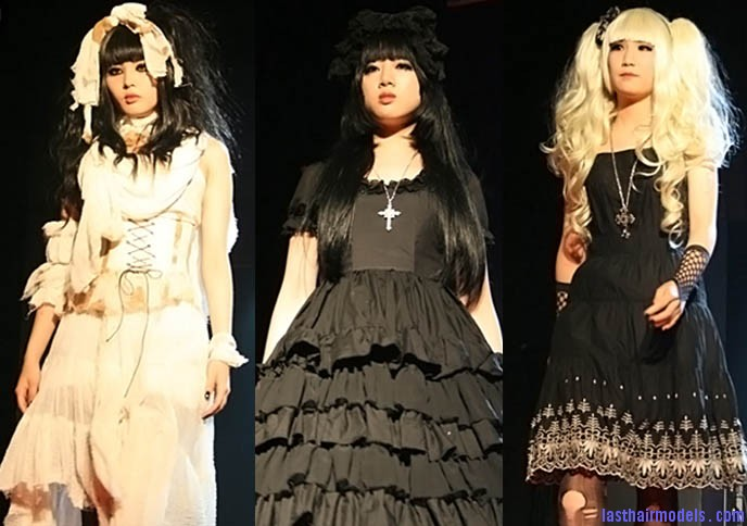 korea goth fashion 4 The Japanese Lolita club hairstyle: Nymphet inspired hairstyle!