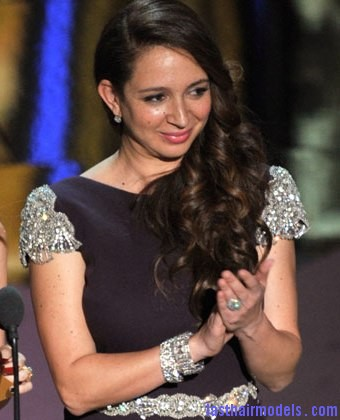 kristin wiig maya rudolph 2012 oscars1 Maya Rudolph's side curls: Making a statement of their own.